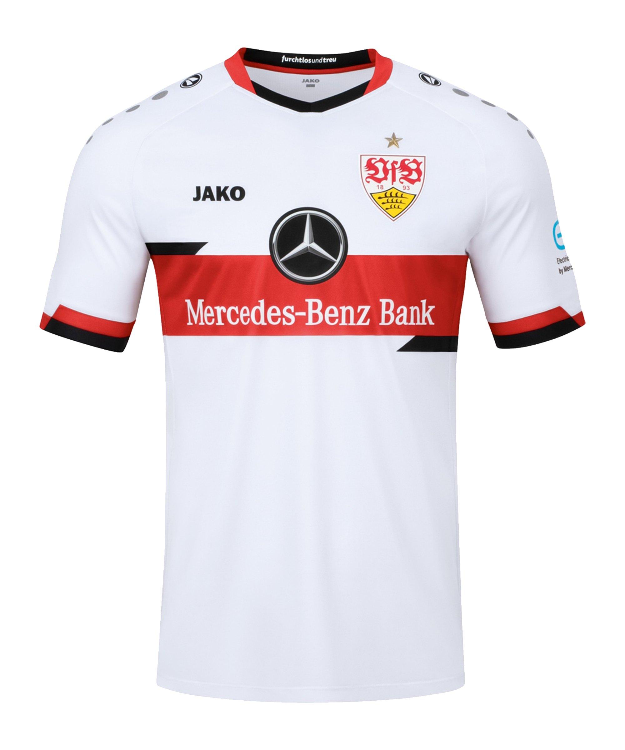 JAKO VfB Stuttgart Trikot Home 2021/2022 Kids Weiss F00 - weiss