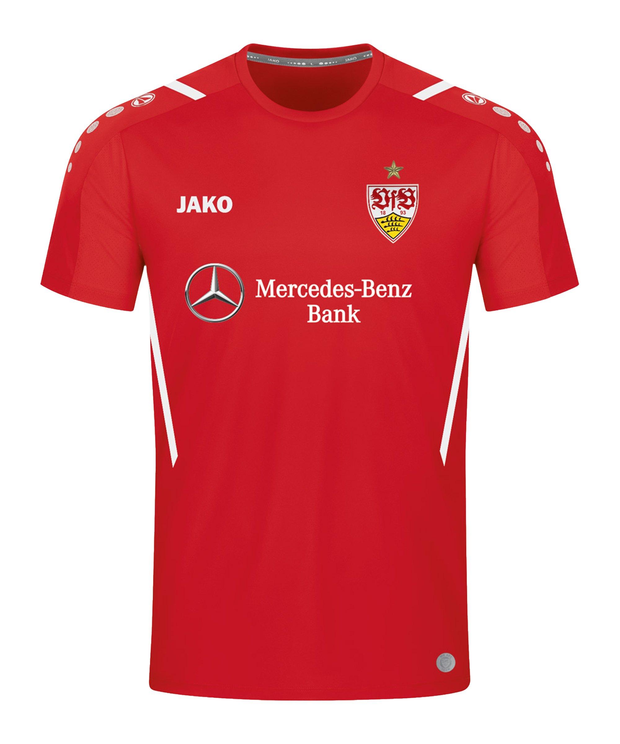 JAKO VfB Stuttgart Challenge Trainingsshirt Kids Rot Weiss F102 - rot