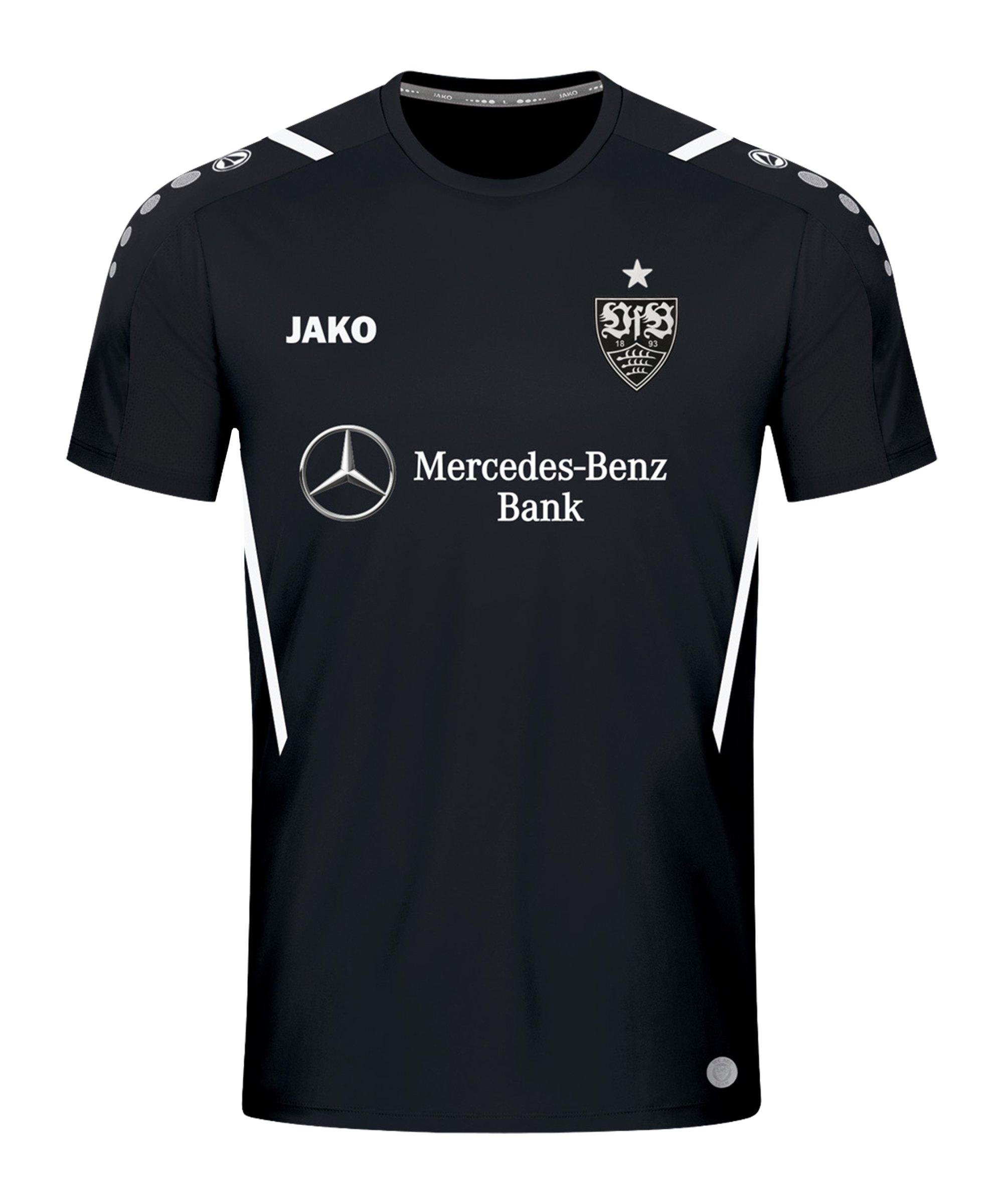 JAKO VfB Stuttgart Challenge Trainingsshirt Schwarz Weiss F802 - schwarz