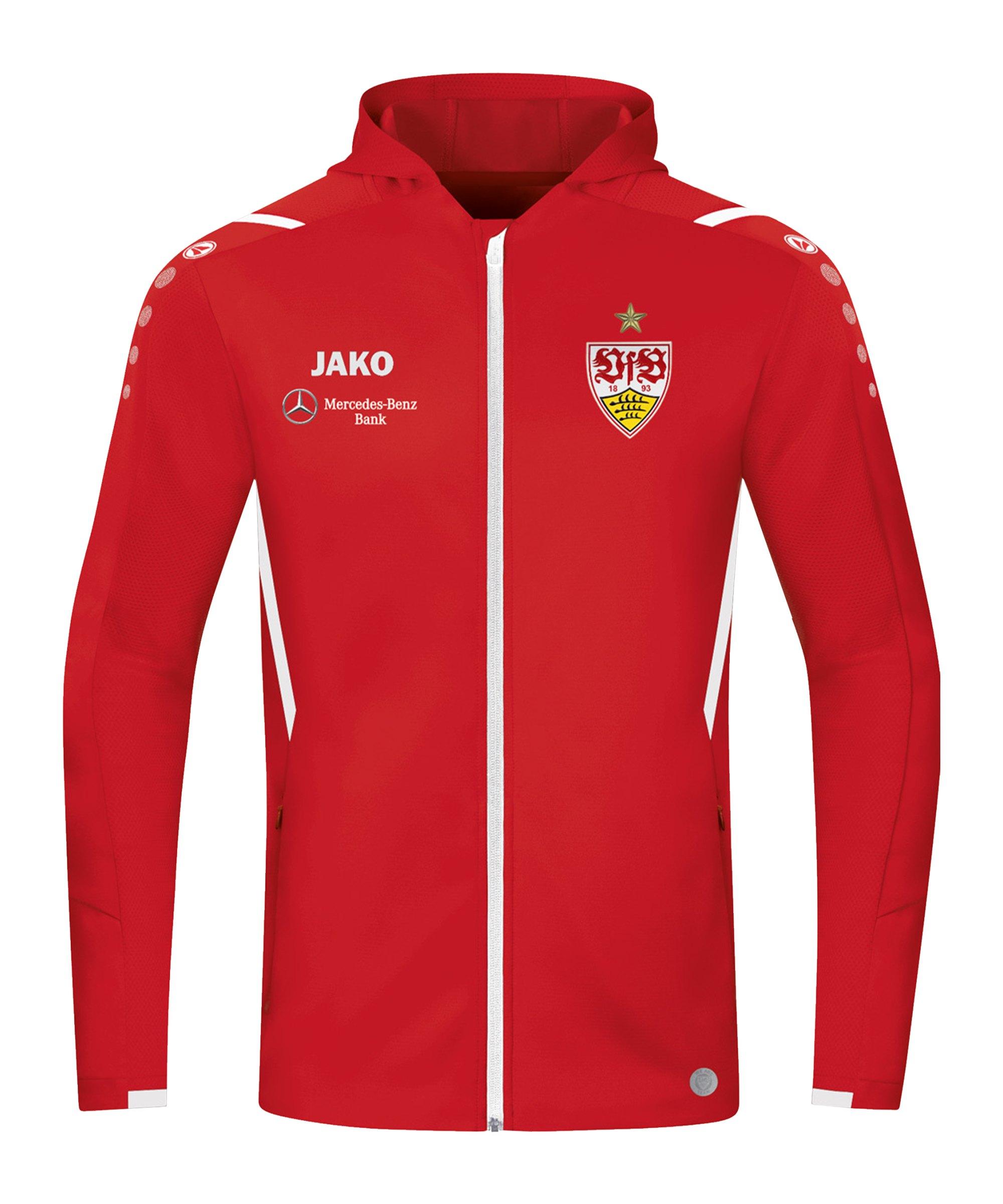 JAKO VfB Stuttgart Challenge Trainingsjacke Kids Rot Weiss F102 - rot