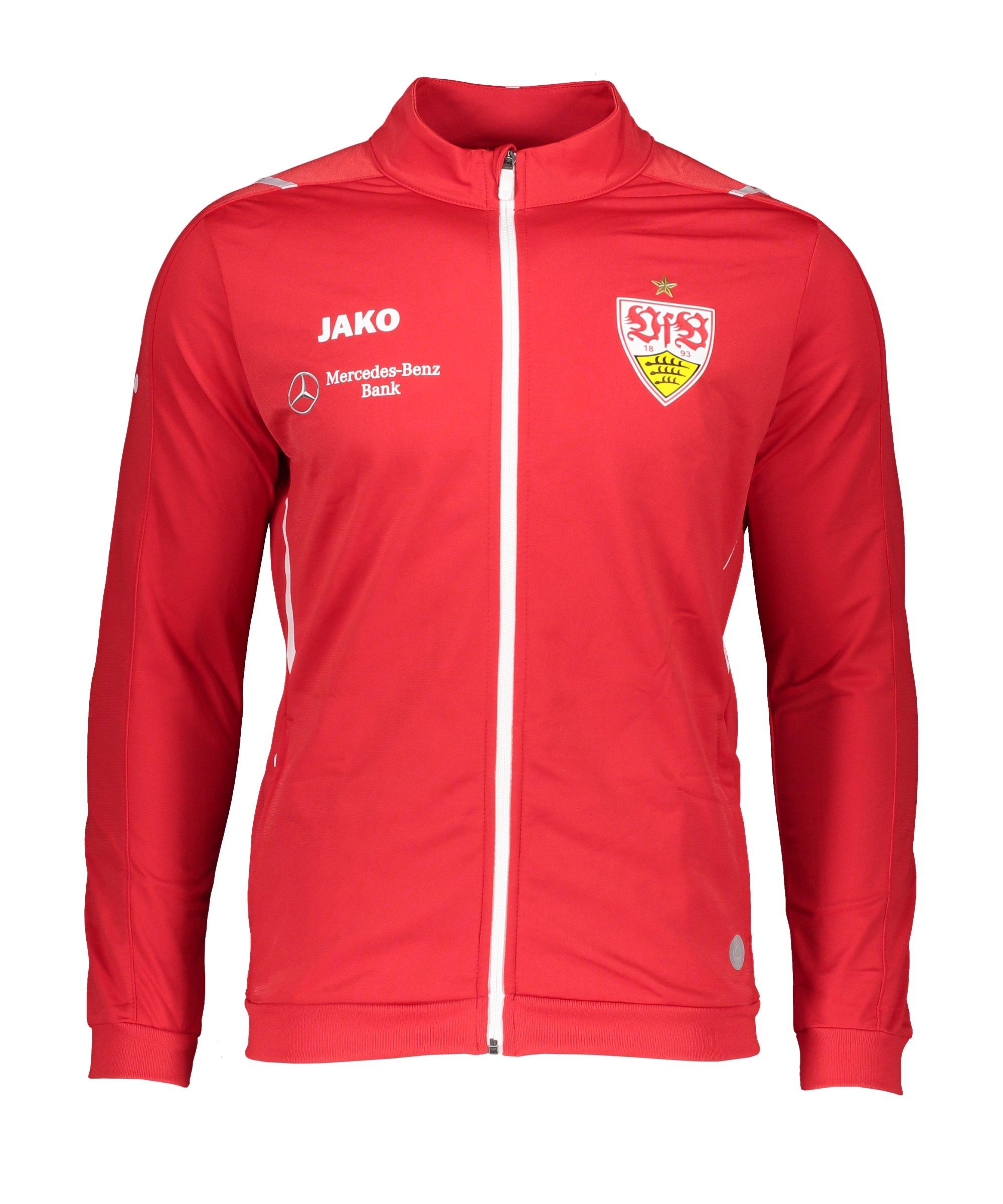 JAKO VfB Stuttgart Challenge Polyesterjacke Rot Weiss F102 - rot