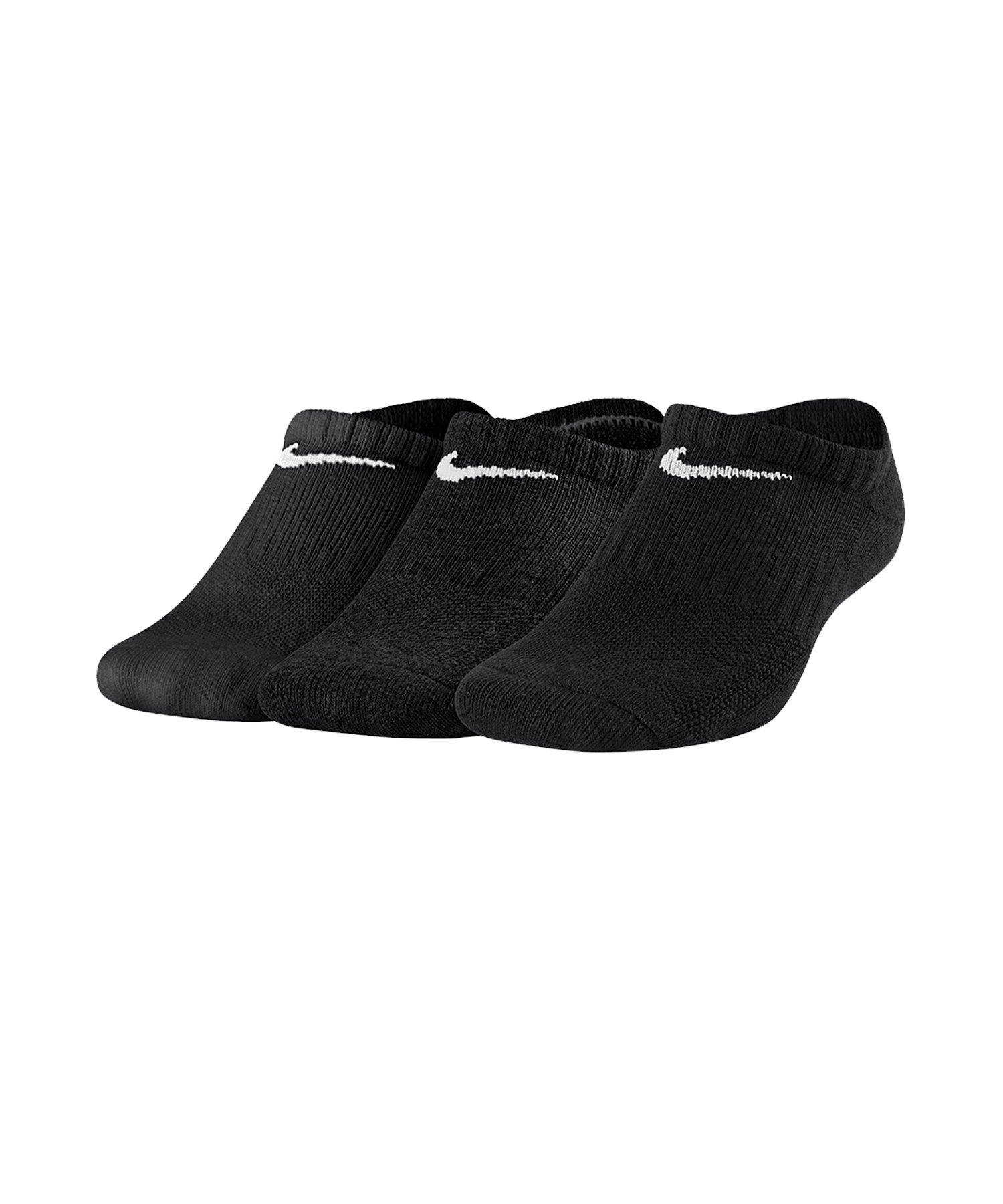 Nike Cushioned No Show Socken 3er Pack Kids F010 - schwarz