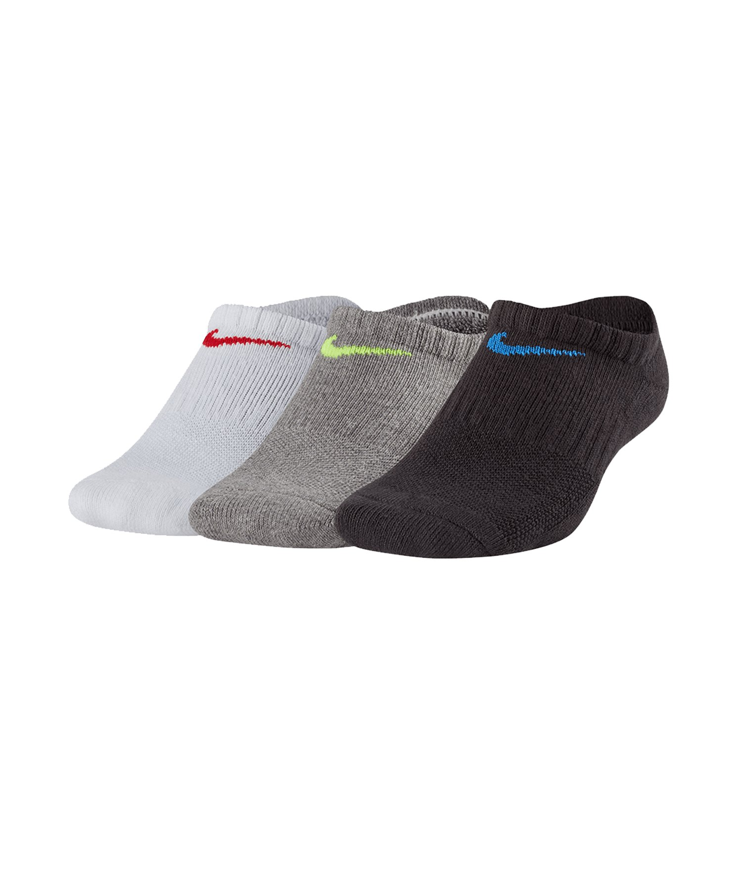 Nike Cushioned No Show Socken 3er Pack Kids F906 - weiss