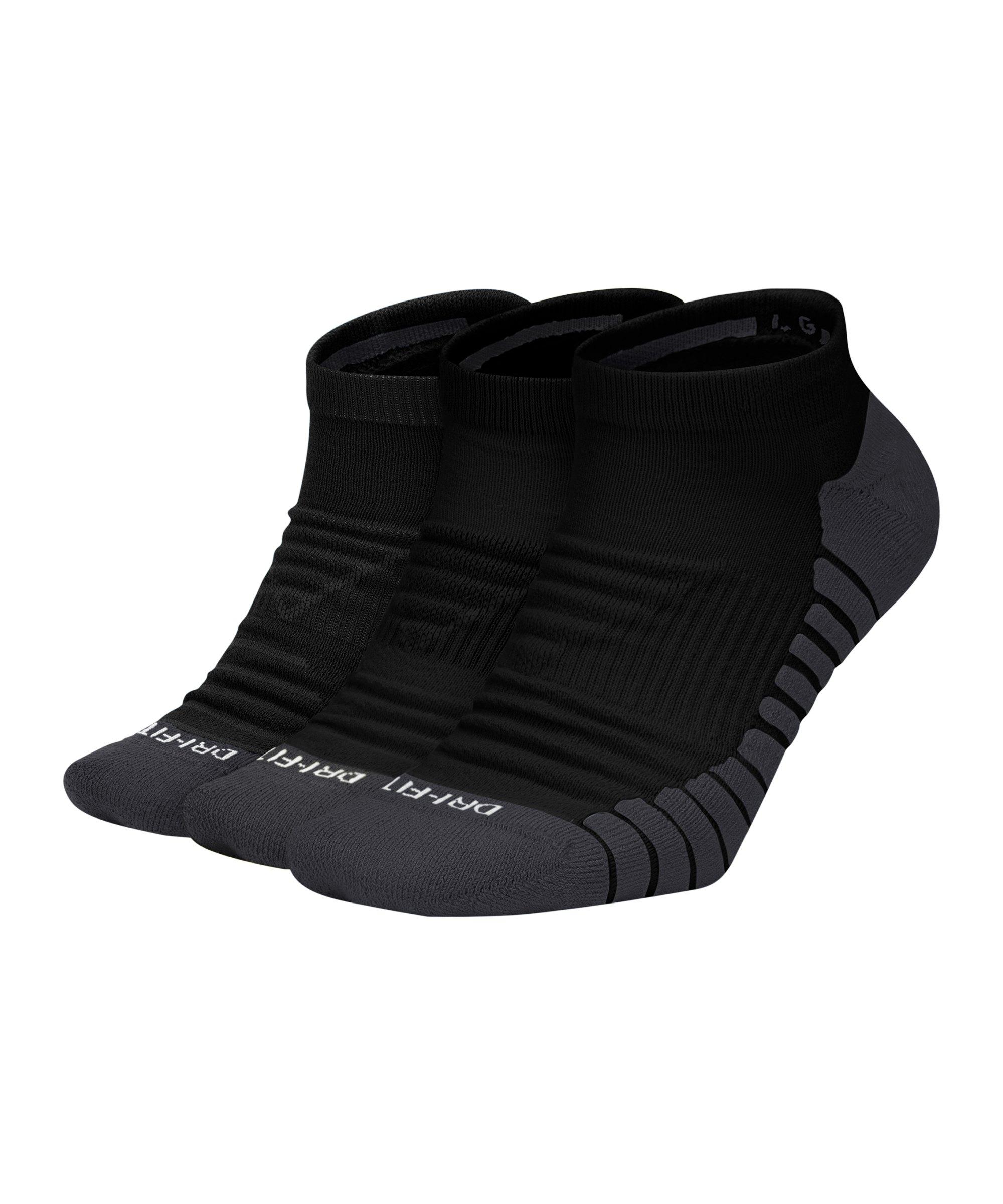 Nike Everyday No-Show Socken 3er Pack F010 - schwarz