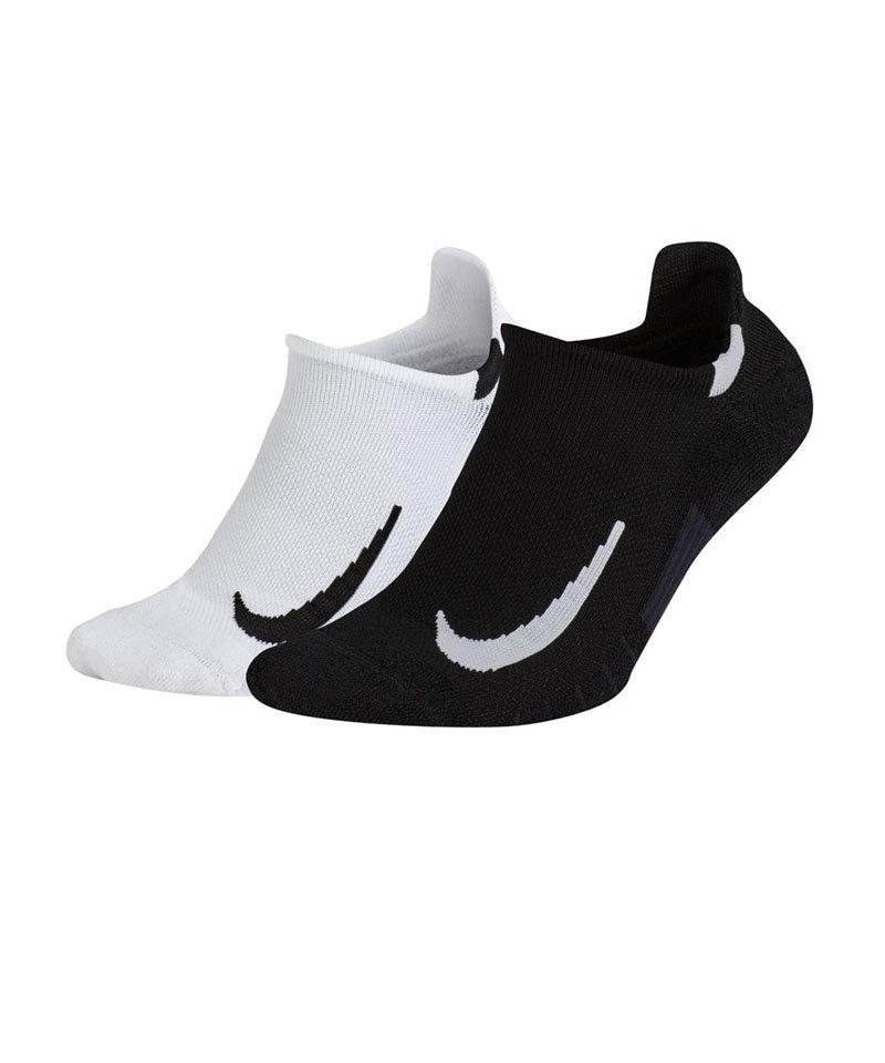 Nike Multiplier 2er Pack Socken Running F914 - schwarz
