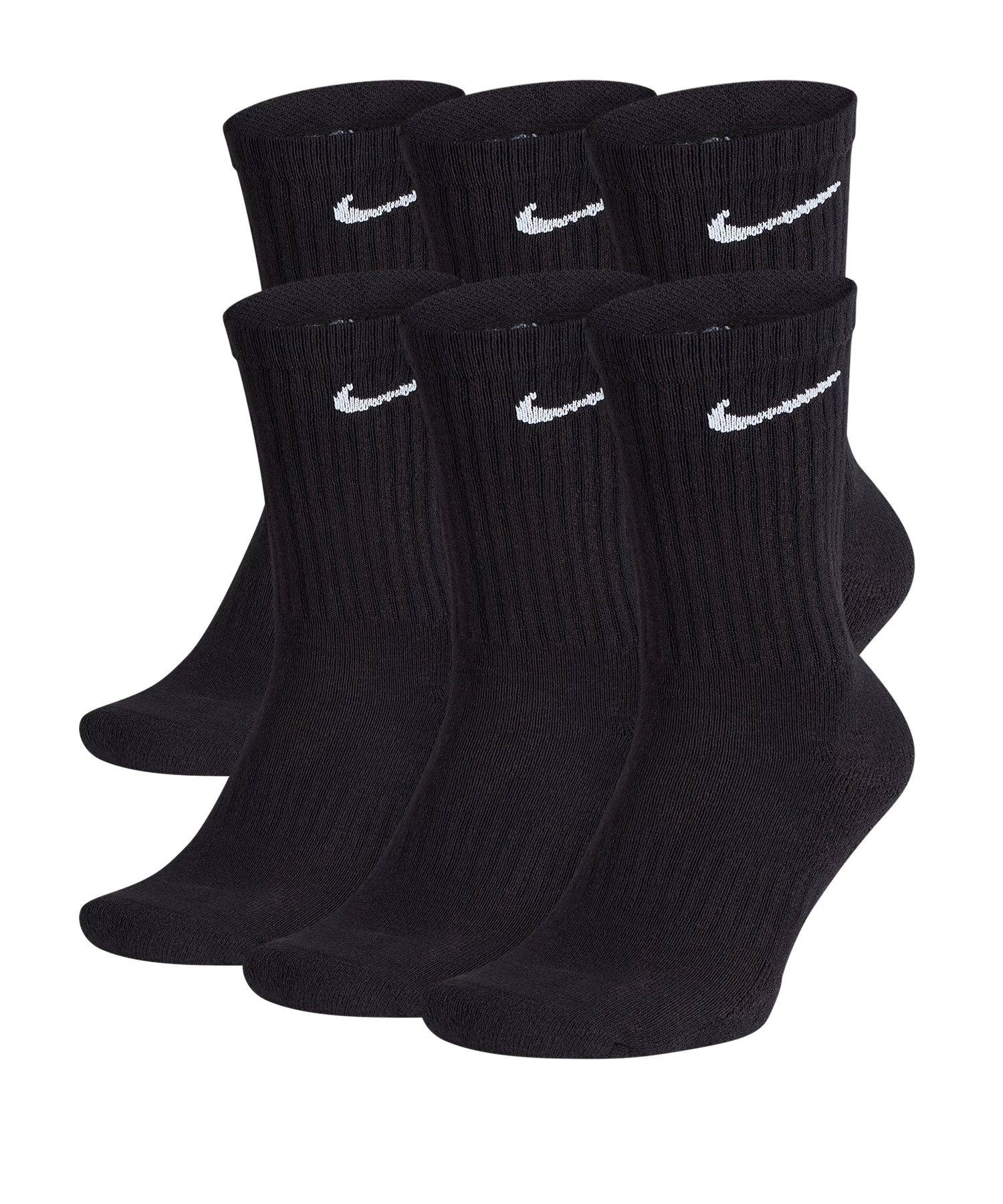 Nike Everyday Cushion Crew 6er Pack Socken F010 - schwarz