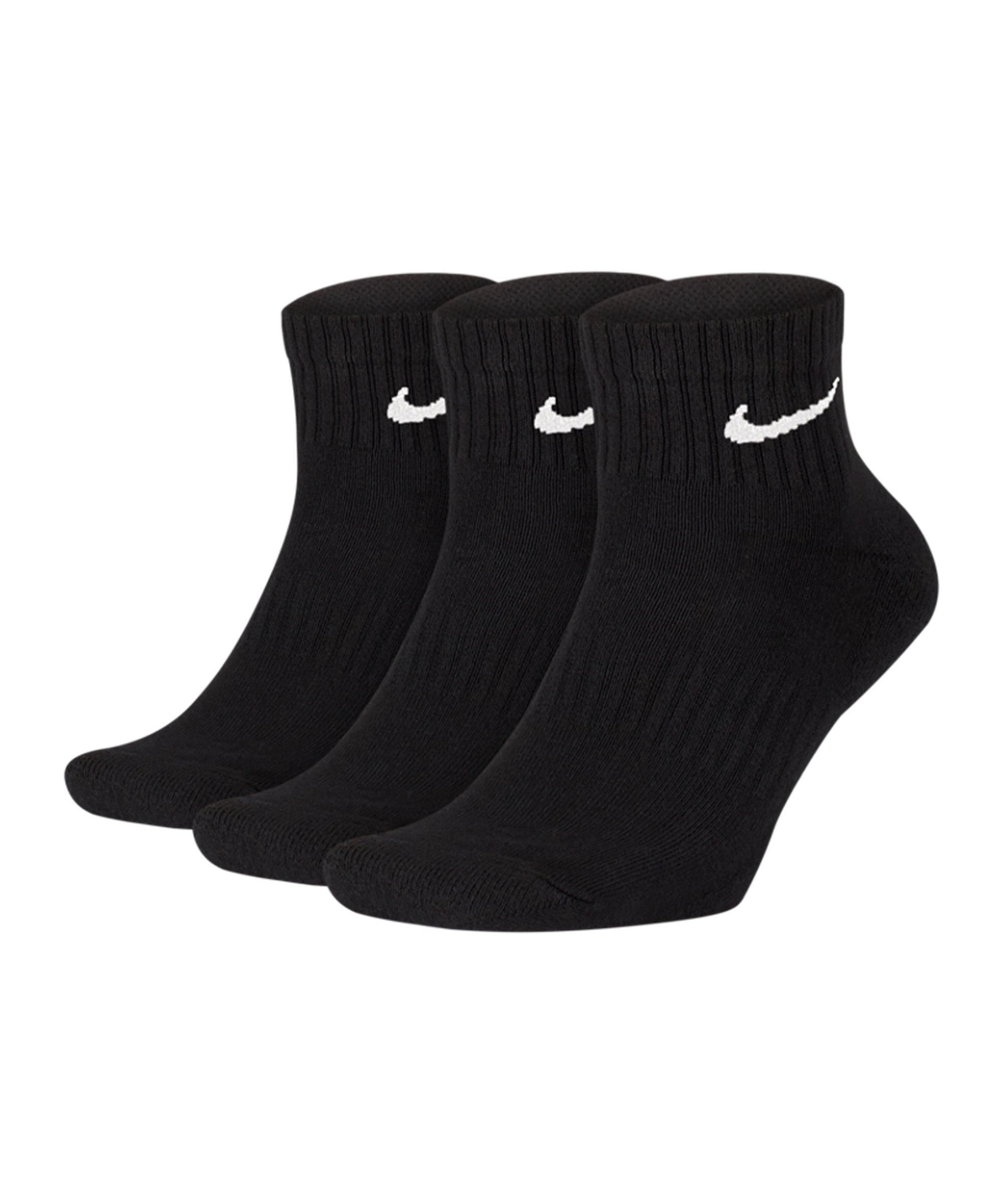 Nike Everyday Cushion Crew 3er Pack Socken F010 - schwarz