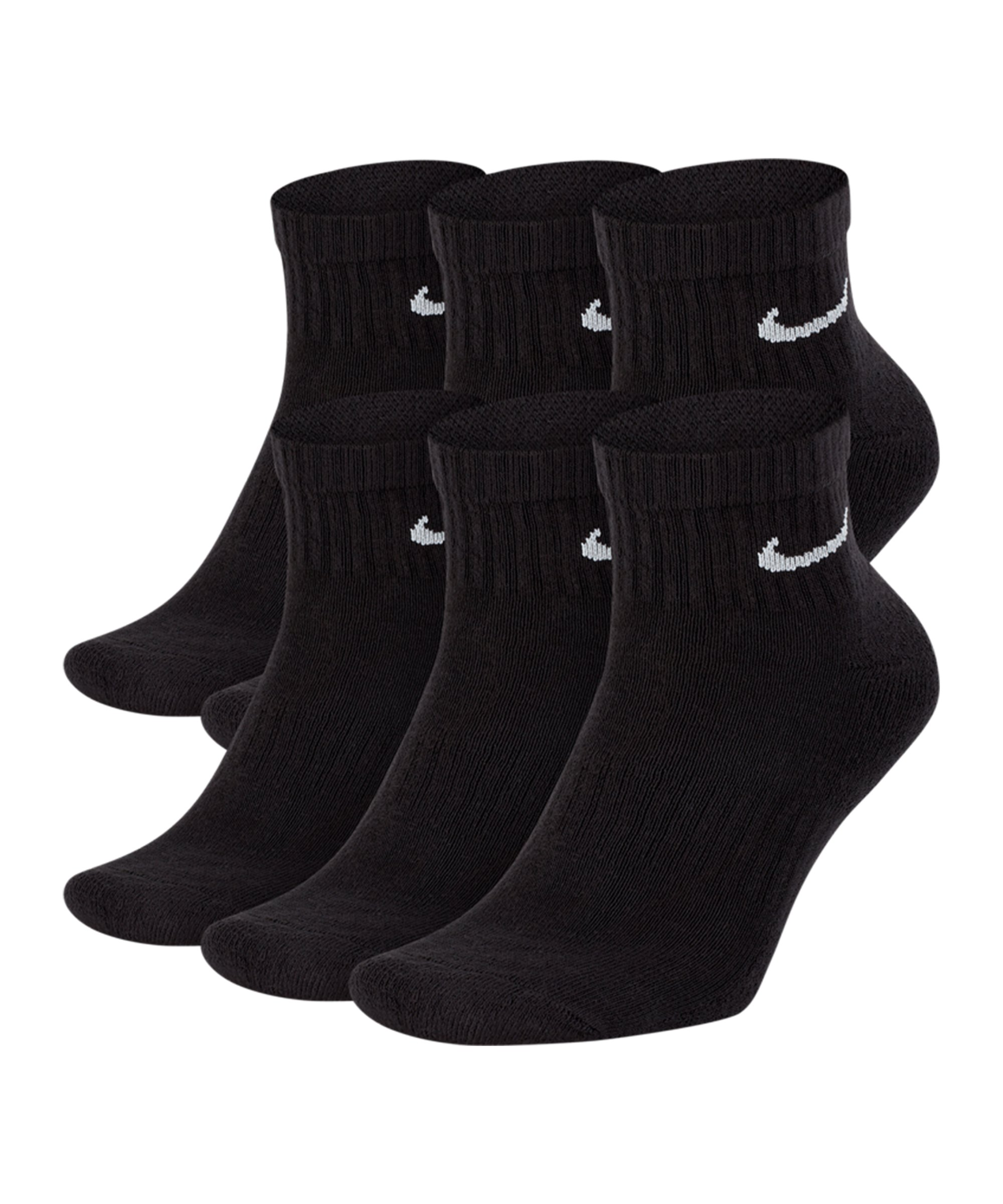Nike Everyday Cushioned Ankle 6er Pack Socken F010 - schwarz