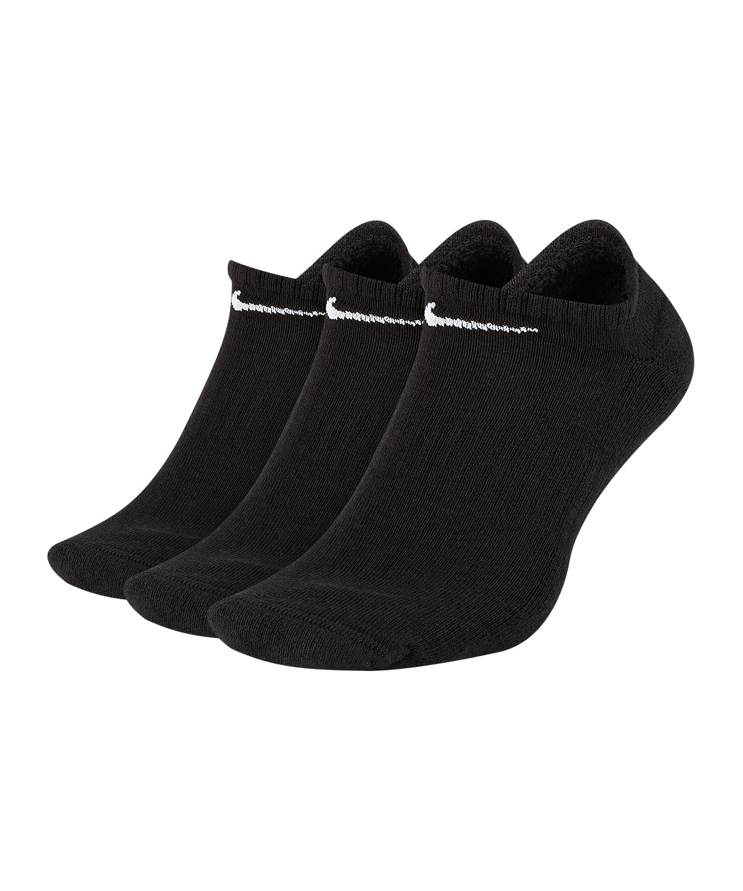 Nike Everyday Cushion No-Show Socken 3er Pack F010 - Schwarz