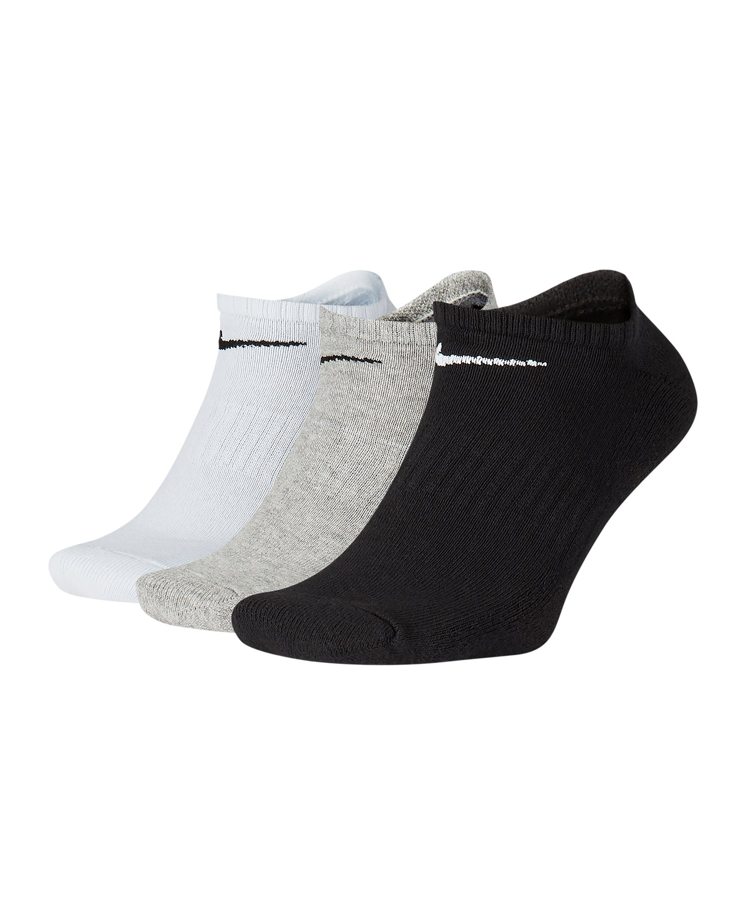 Nike Everyday Cushion No-Show Socken 3er Pack F901 - schwarz