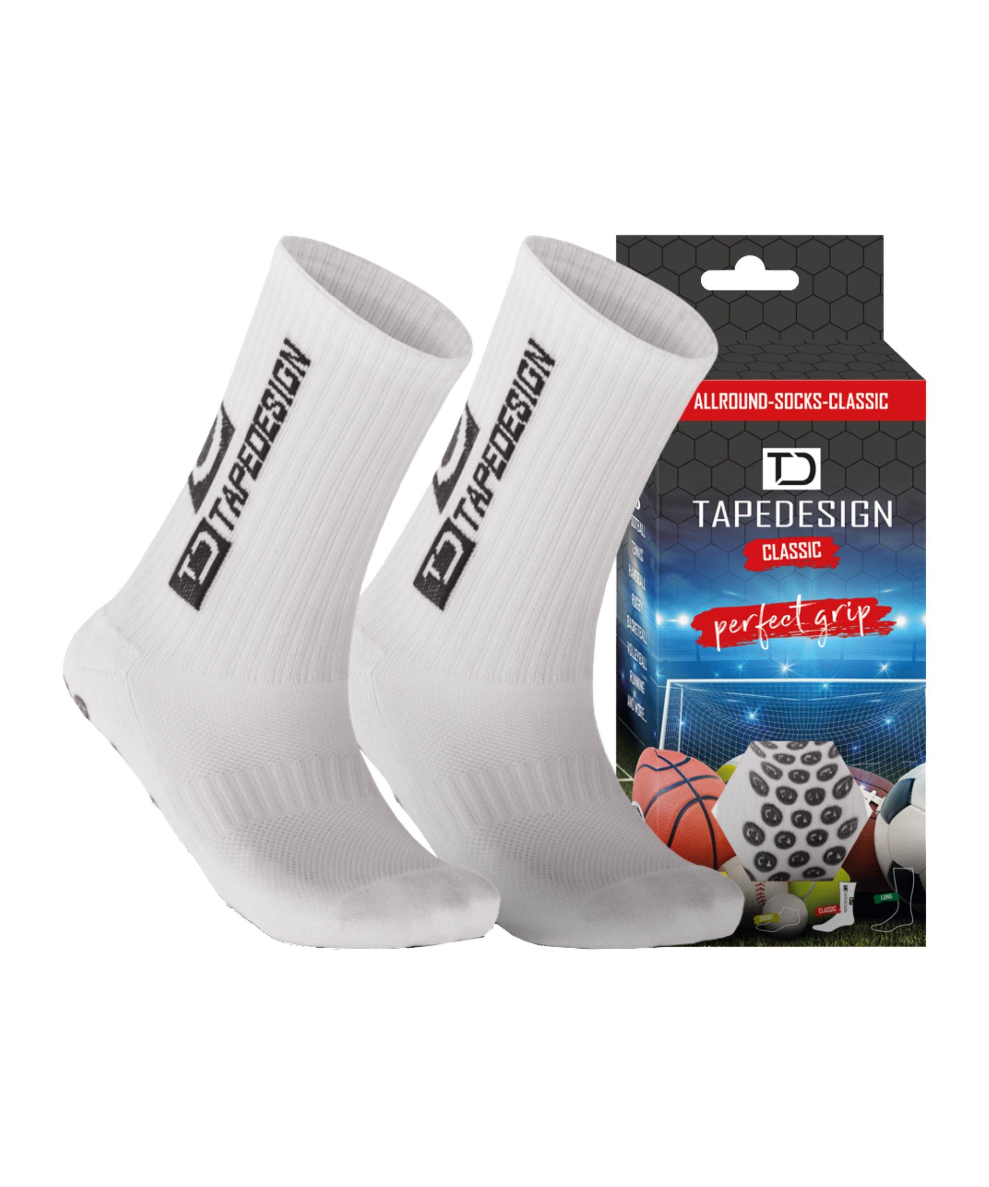 Tapedesign Socks Socken Weiss F001 - weiss