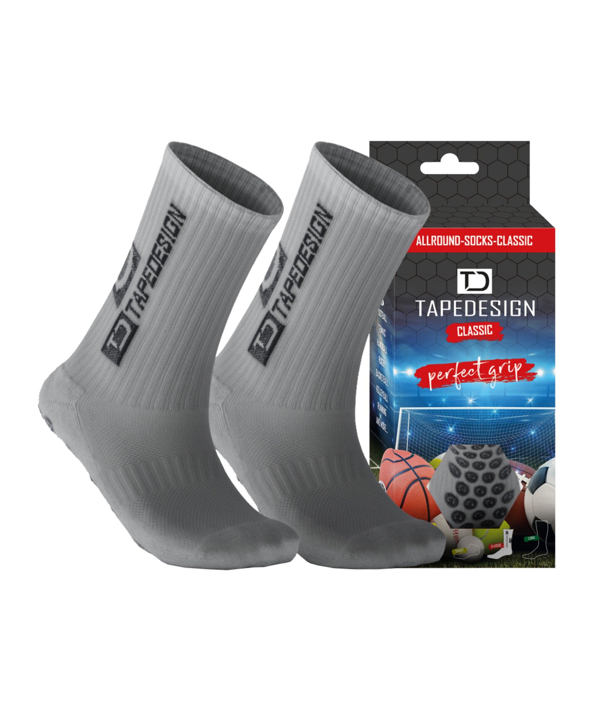 Tapedesign Gripsocks Socken Hellgrau F015 - grau