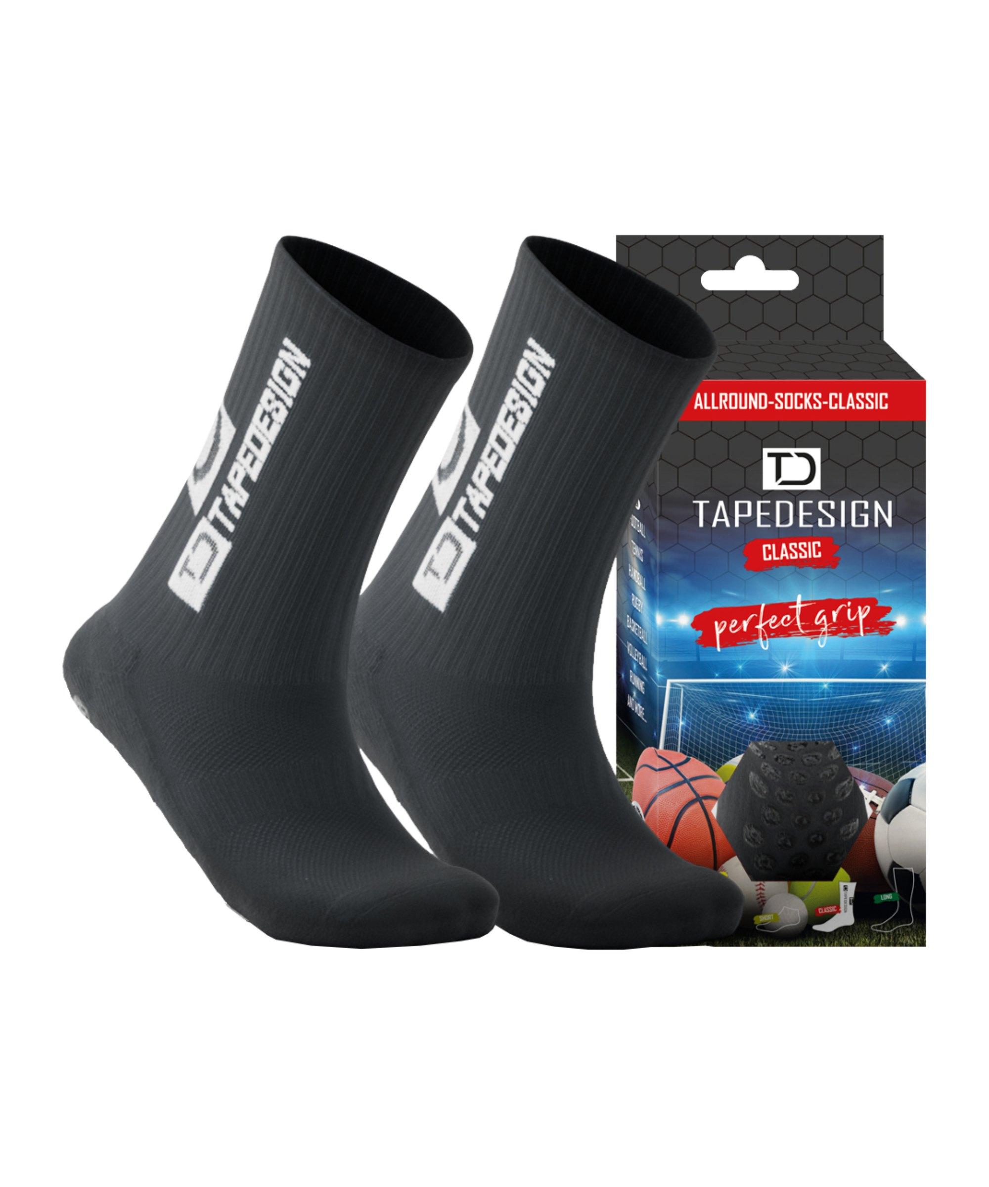 Tapedesign Gripsocks Socken Dunkelgrau F016 - grau