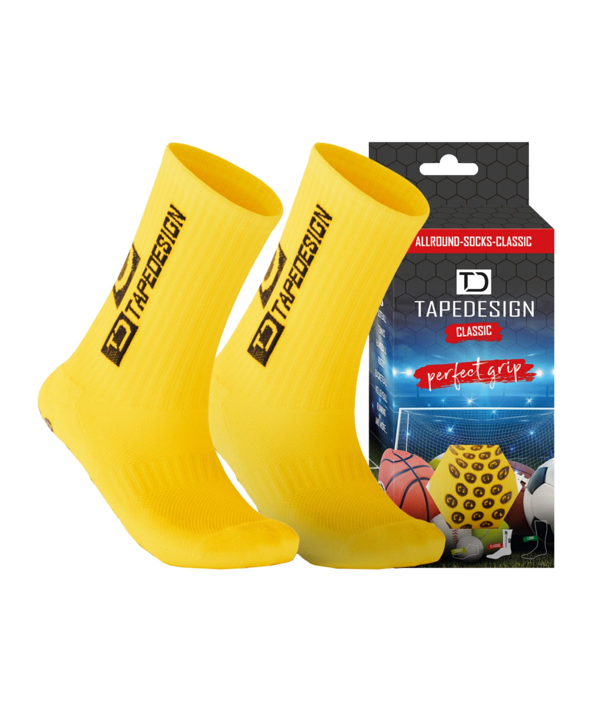 Tapedesign Socks Socken Gelb F003 - gelb