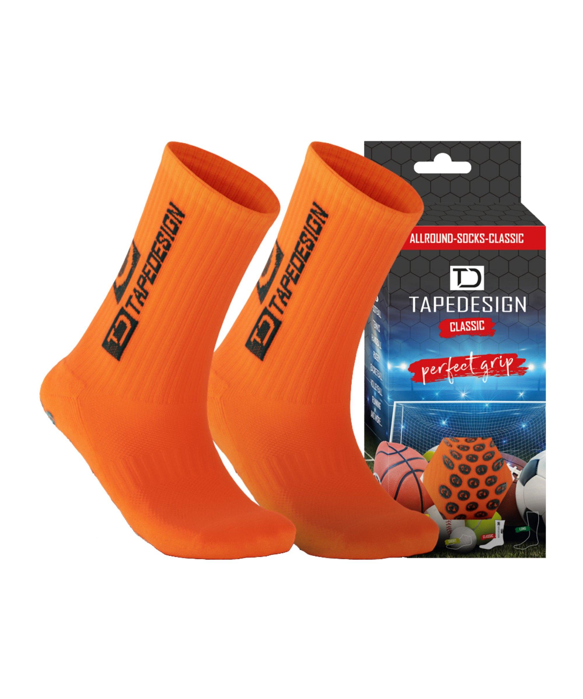 Tapedesign Socks Socken Orange F004 - orange