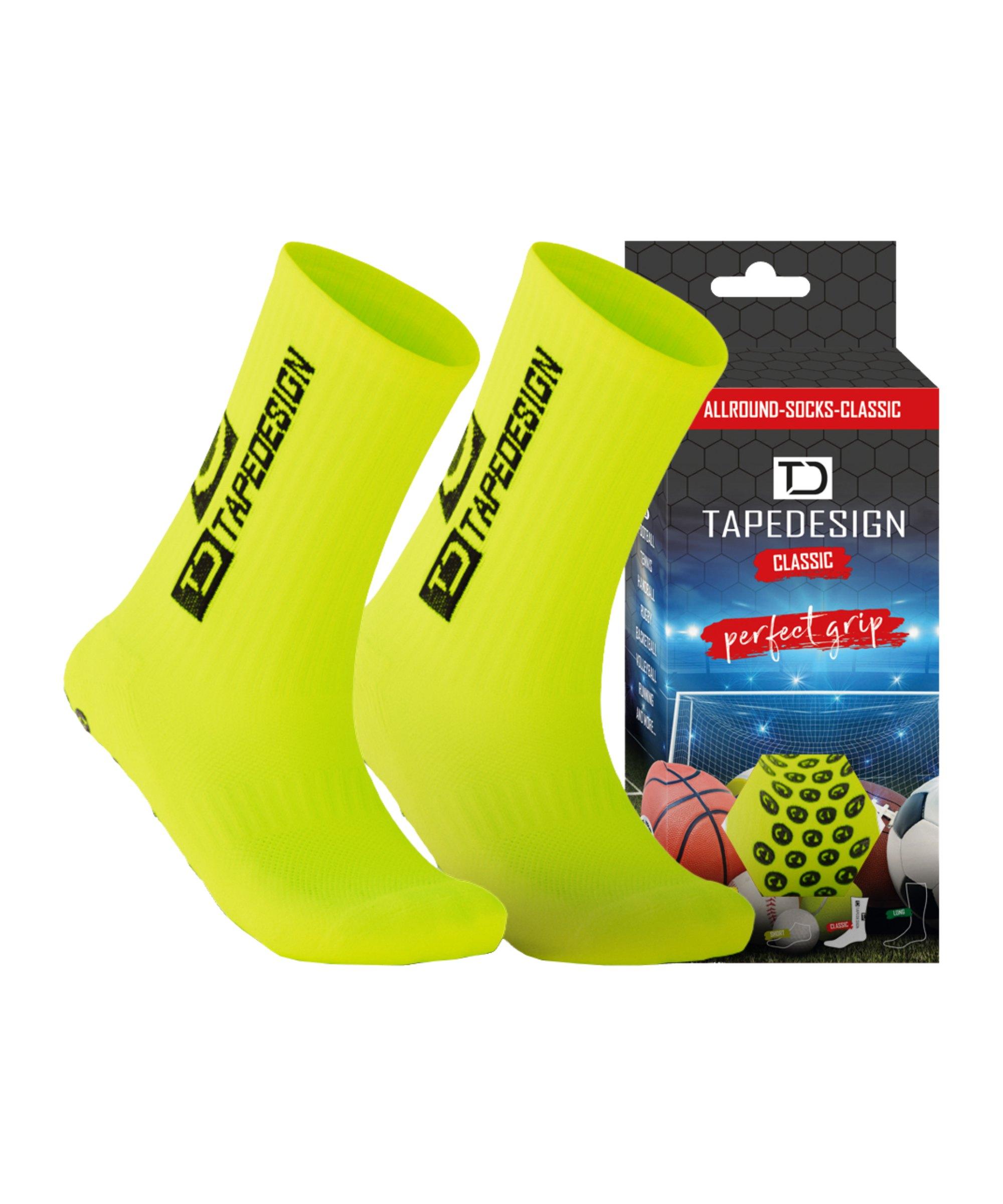 Tapedesign Socks Socken Neongelb F009 - gelb