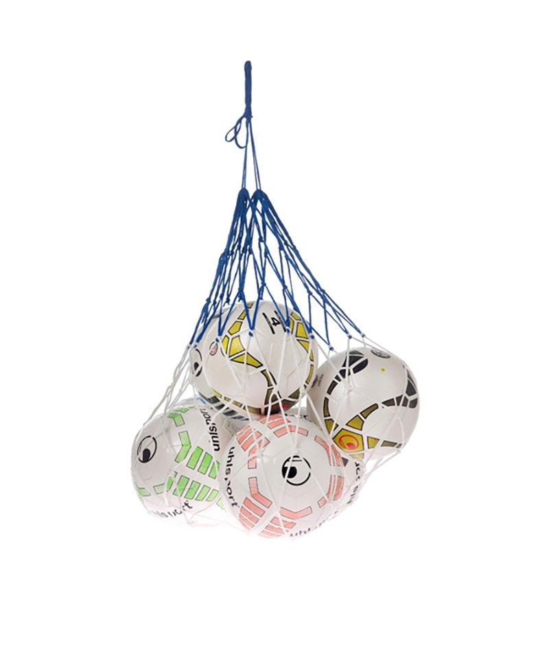 Uhlsport Ballnetz für 12 Bälle Weiss Blau F01 - weiss
