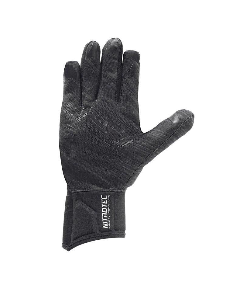Uhlsport Nitrotec Spielerhandschuh Schwarz F01 - schwarz