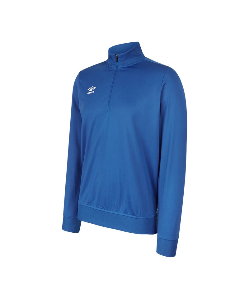 Umbro Club Essential 1/2 Zip Sweat Kids Blau FEH2 - blau