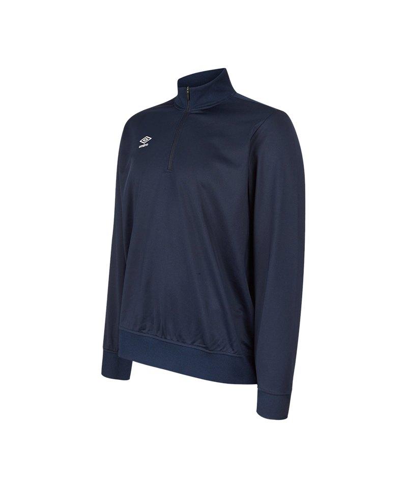 Umbro Club Essential 1/2 Zip Sweat Kids Blau FY70 - blau