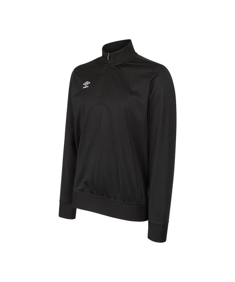 Umbro Club Essential 1/2 Zip Sweat Kids F005 - schwarz