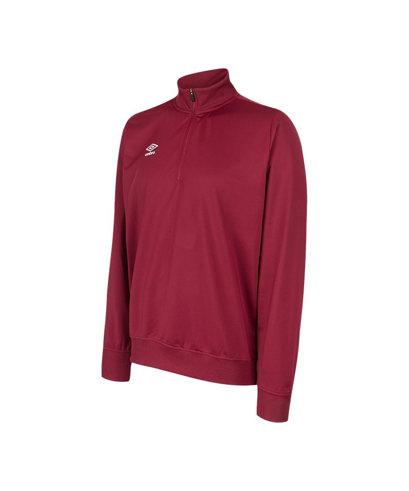 Umbro Club Essential 1/2 Zip Sweat Kids Rot FNCL - rot