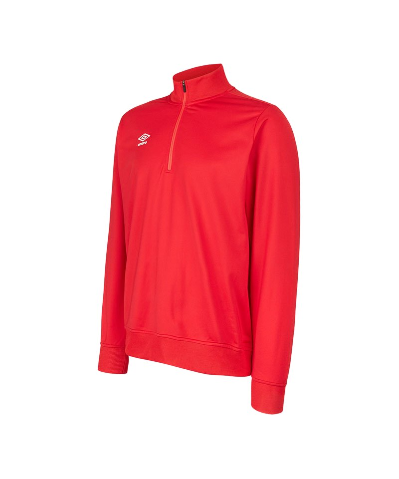 Umbro Club Essential 1/2 Zip Sweater Rot F7RA - rot
