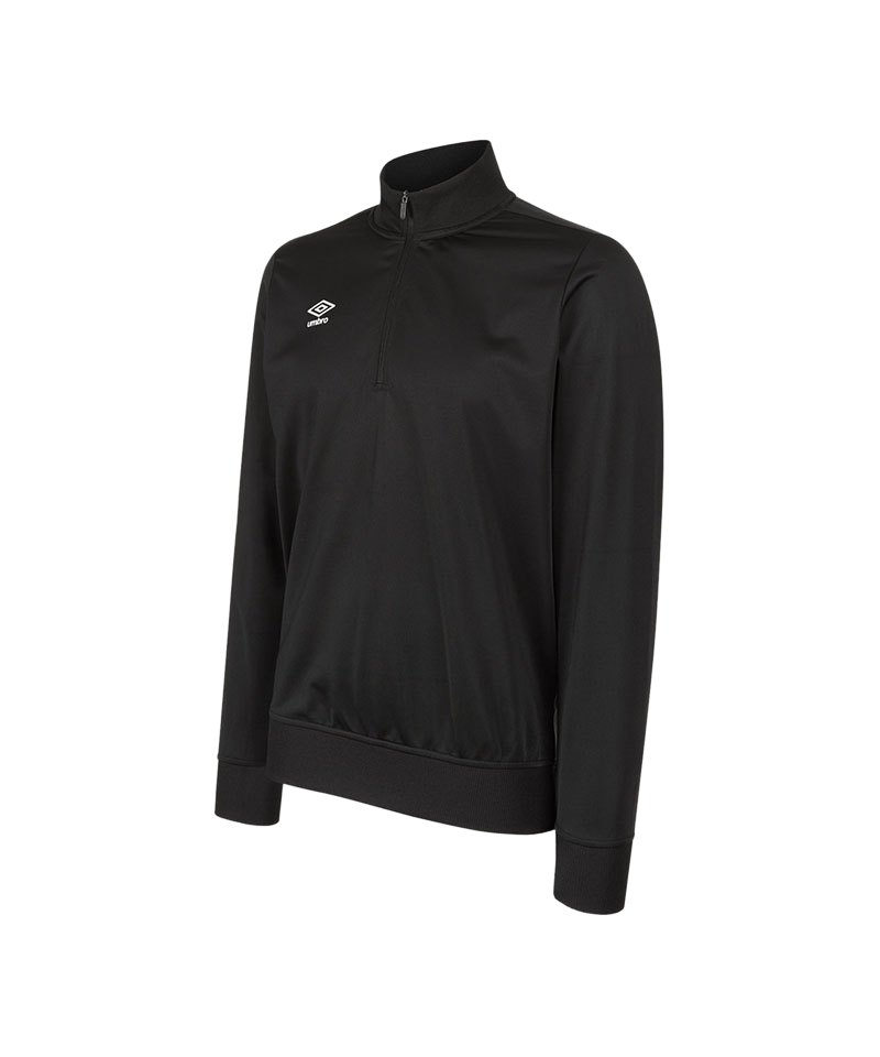 Umbro Club Essential 1/2 Zip Sweater Schwarz F005 - schwarz