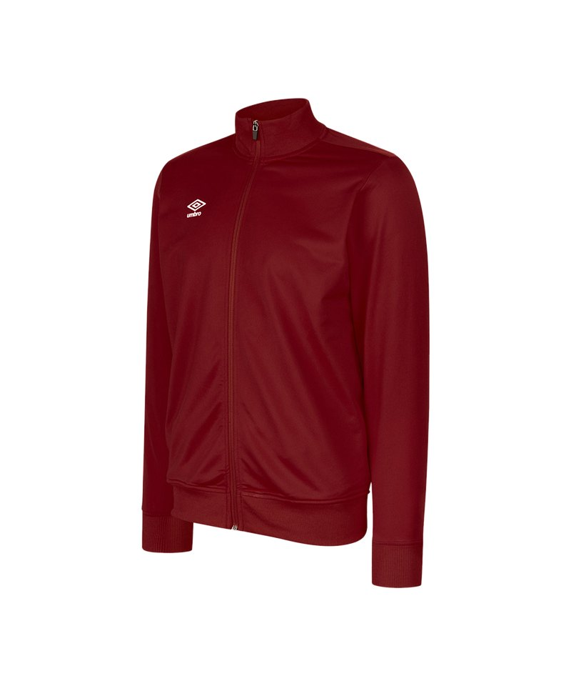 Umbro Club Essential Poly Jacke Dunkelrot FNCL - rot
