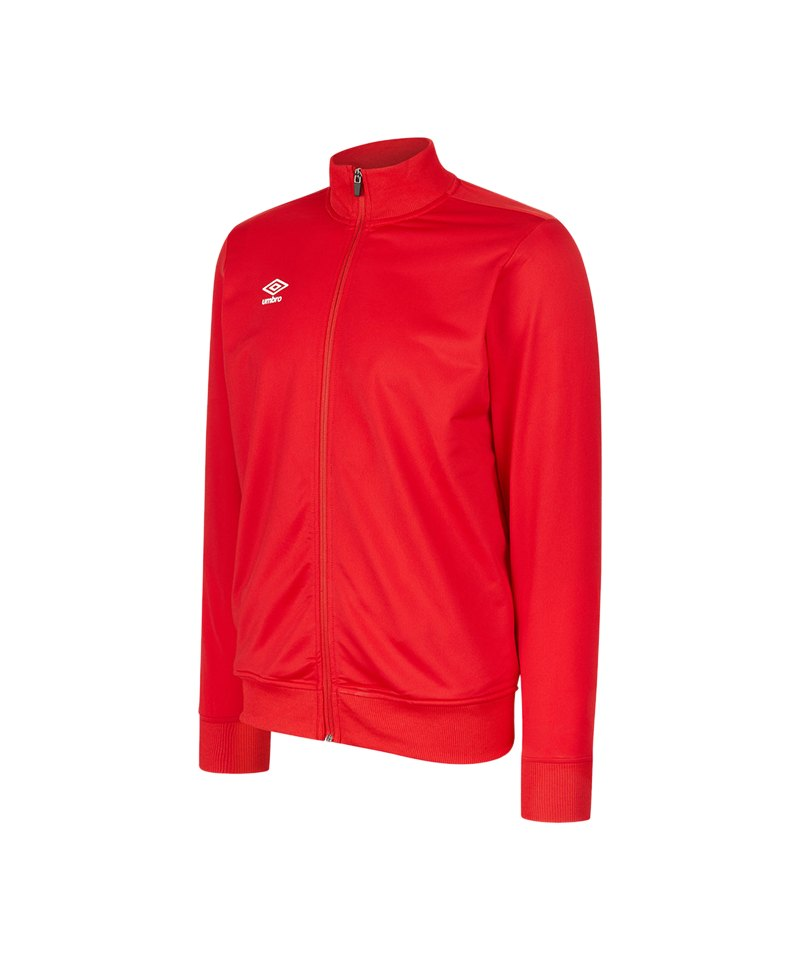 Umbro Club Essential Poly Jacke Rot F7RA - rot