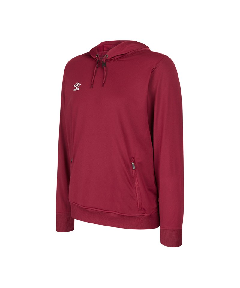 Umbro Club Essential Poly Hoody Dunkelrot FNCL - rot