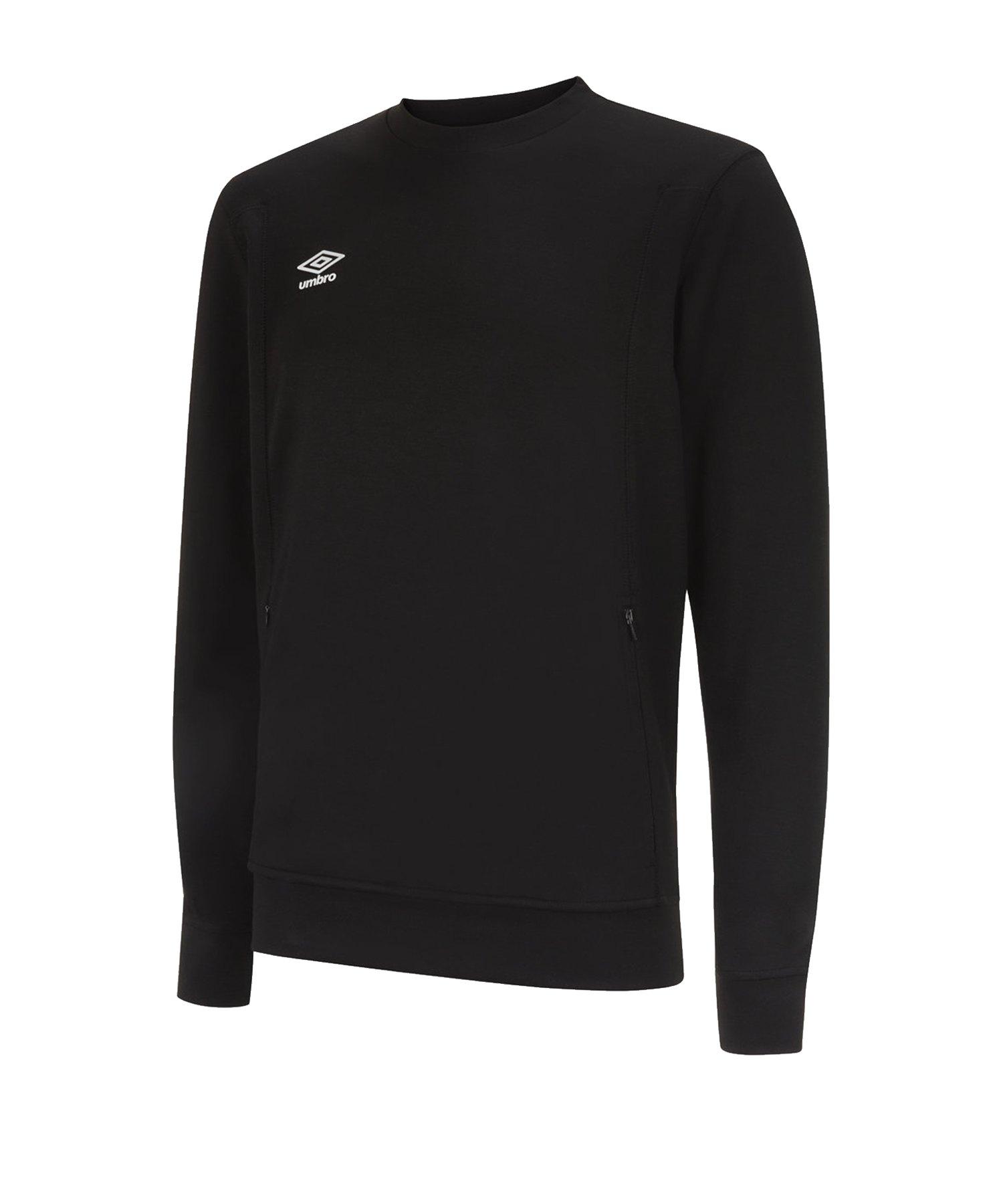 Umbro Pro Fleece Sweatshirt Schwarz F090 - Schwarz