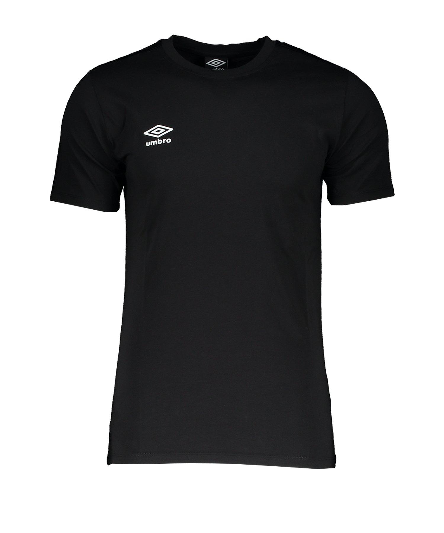 Umbro Pro Taped Tee T-Shirt Schwarz F060 - Schwarz