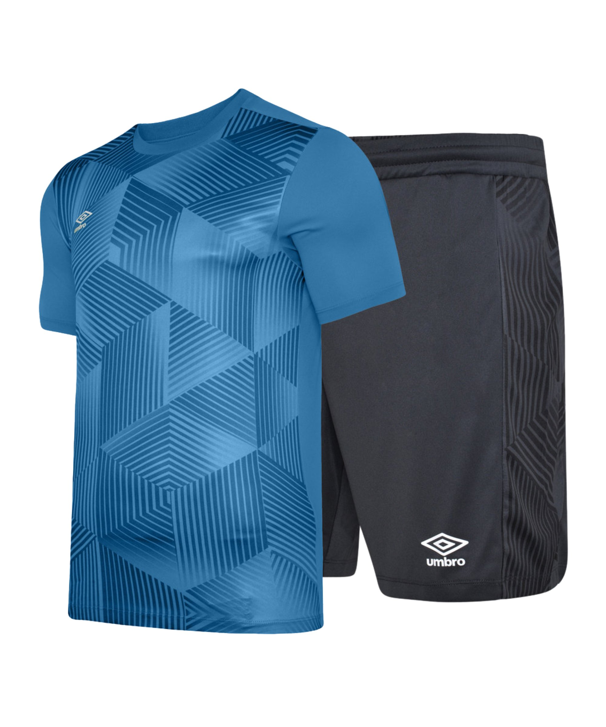 Umbro Maxium Kit Set Kids Blau Schwarz FKZ3 - blau