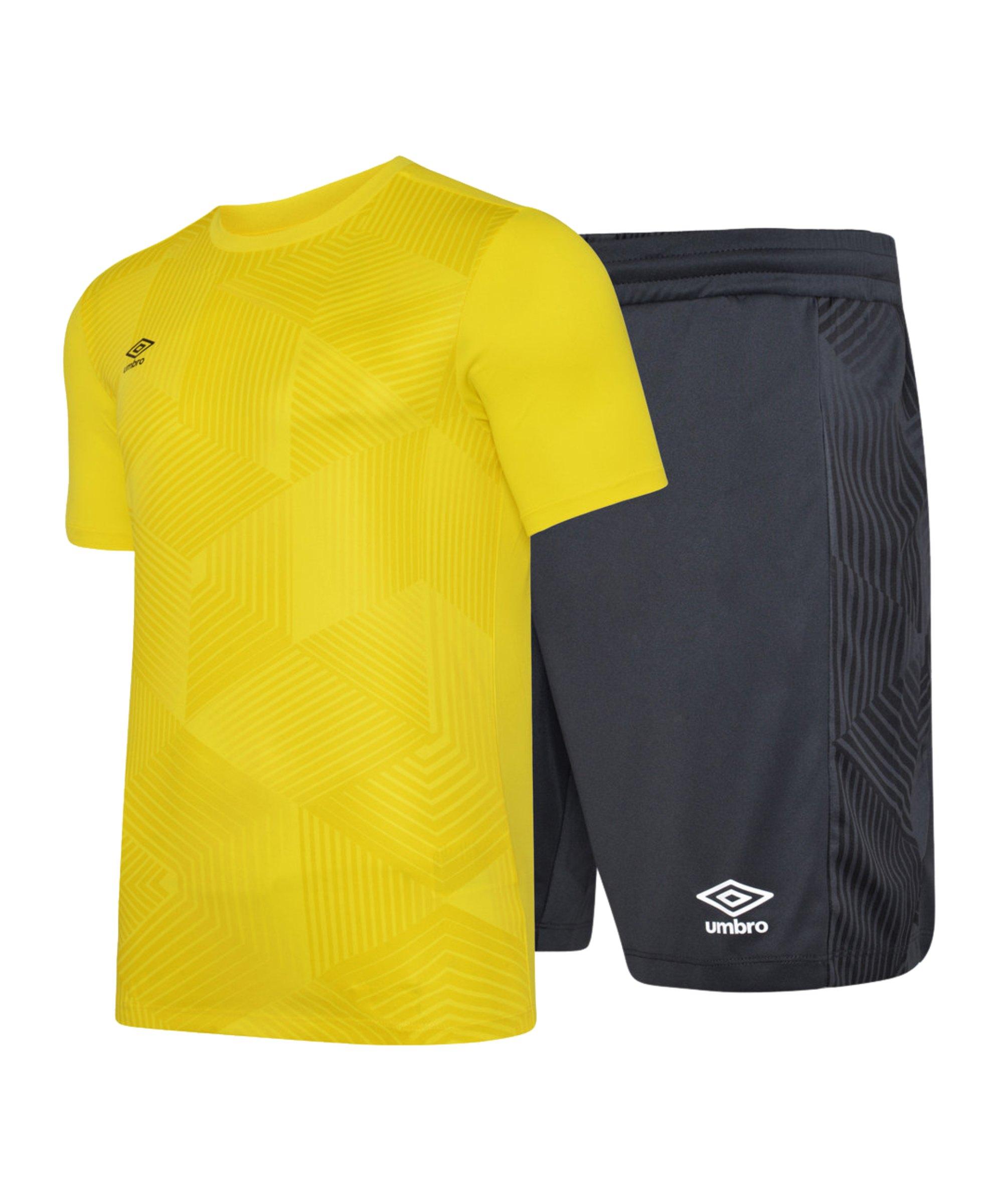 Umbro Maxium Kit Set Gelb Schwarz FAST - gelb