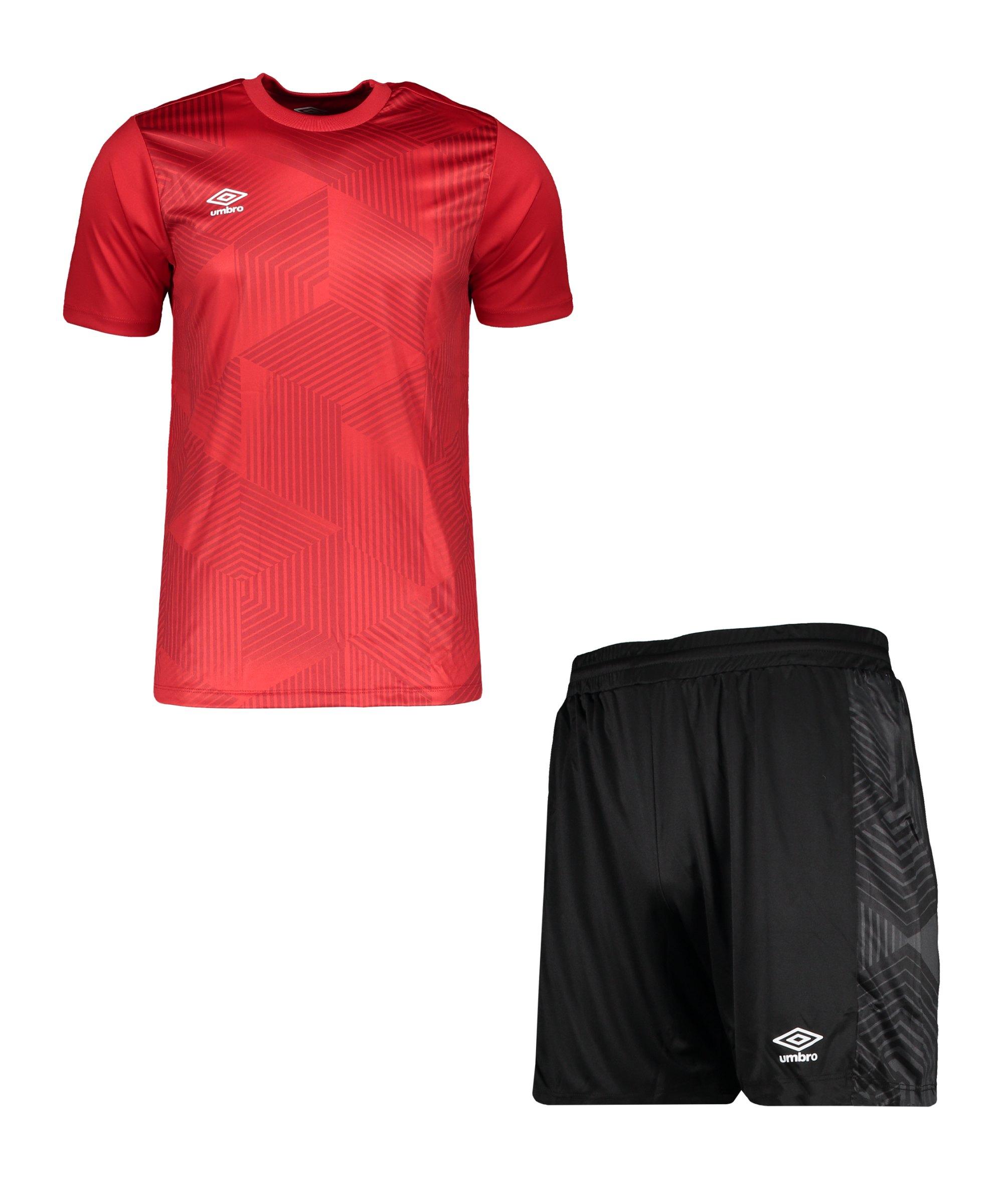 Umbro Maxium Kit Set Rot Schwarz FB26 - rot
