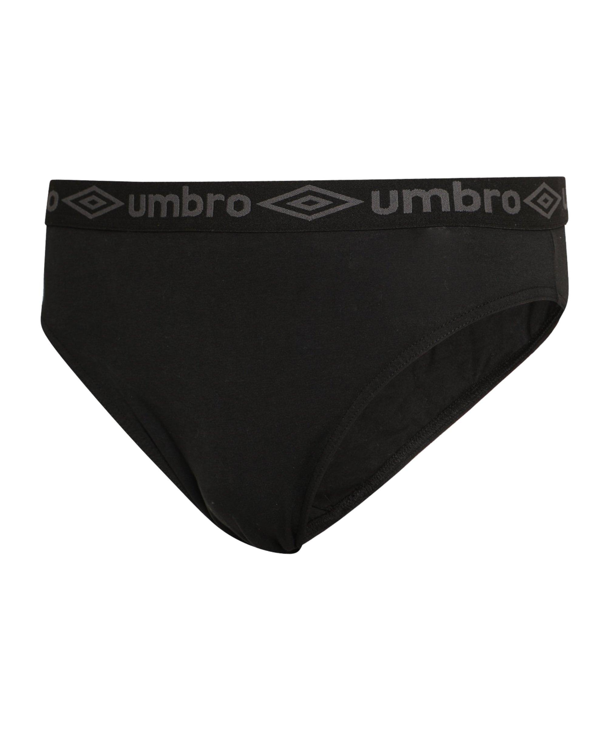 Umbro Plain Briefs 3er Pack Schwarz F001 - schwarz