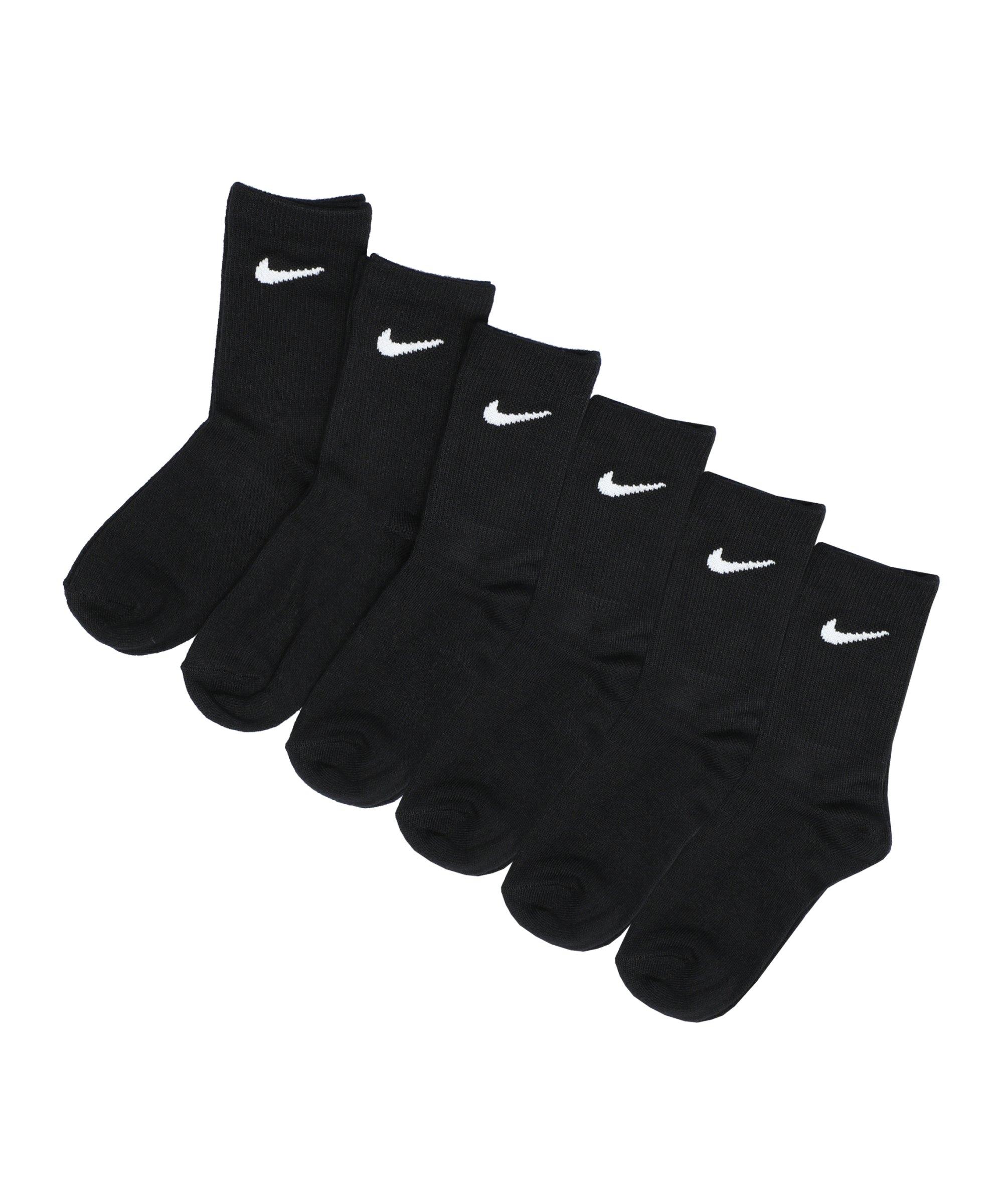 Nike Colorful Crew 6er Pack Socken Kids 5-7 F023 - schwarz