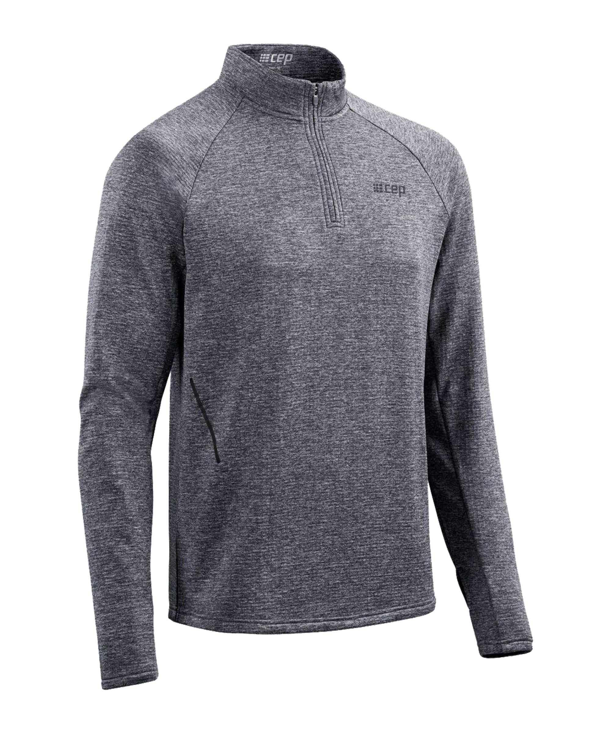 CEP T-Shirt langarm Running Schwarz - grau