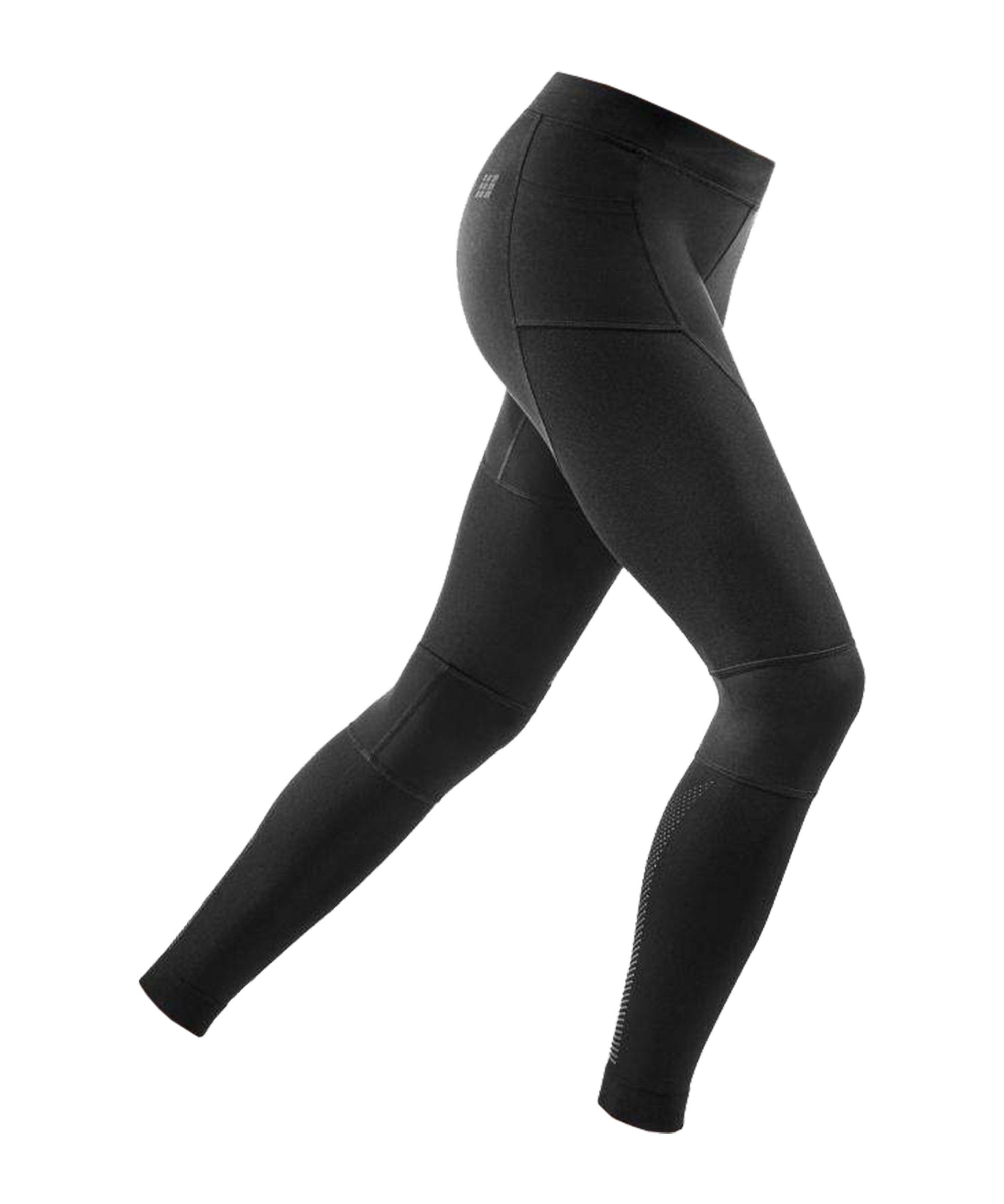 CEP Compression Leggings Running Damen Schwarz - schwarz