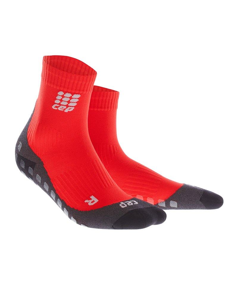 CEP Griptech Short Socks Damen Rot - rot