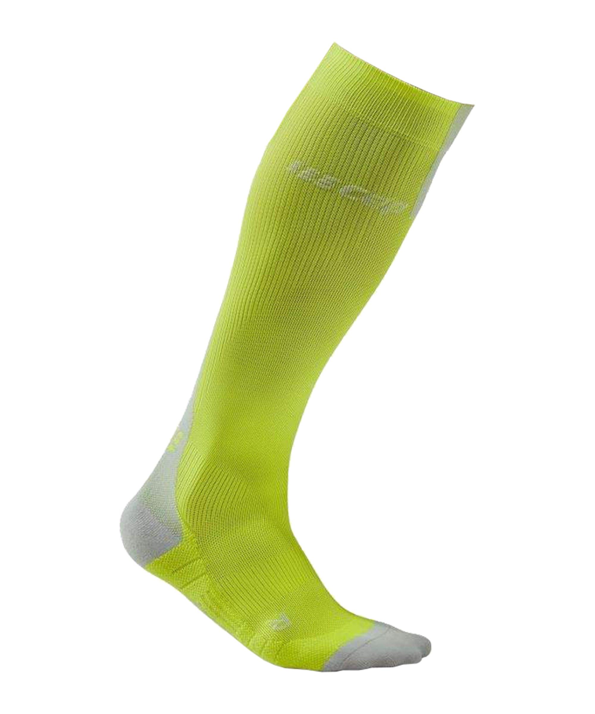 CEP Compressin 3.0 Socken Running Gelb Grau - gelb