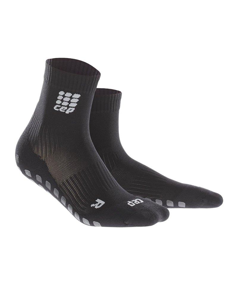 CEP Griptech Short Socks Schwarz - schwarz
