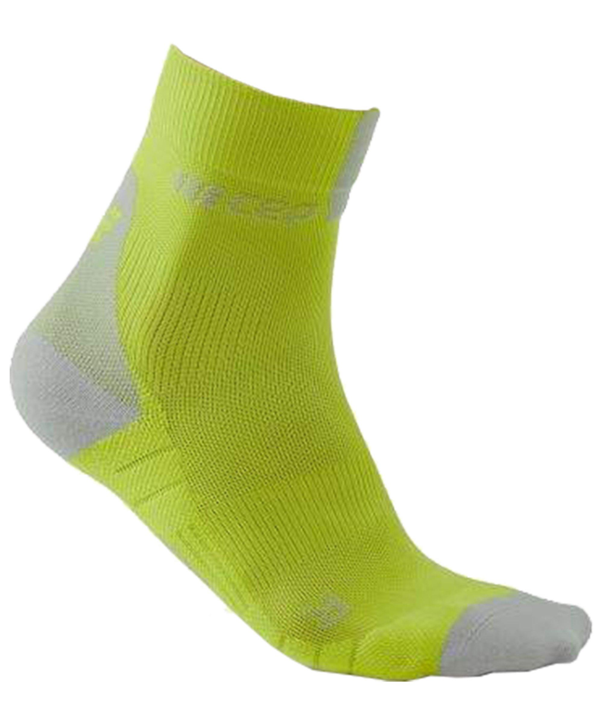 CEP Compression 3.0 Short Socken Running Gelb Grau - gelb