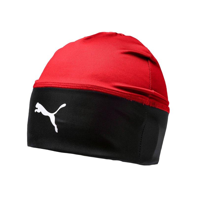 PUMA LIGA Beanie Mütze Rot Schwarz F01 - rot