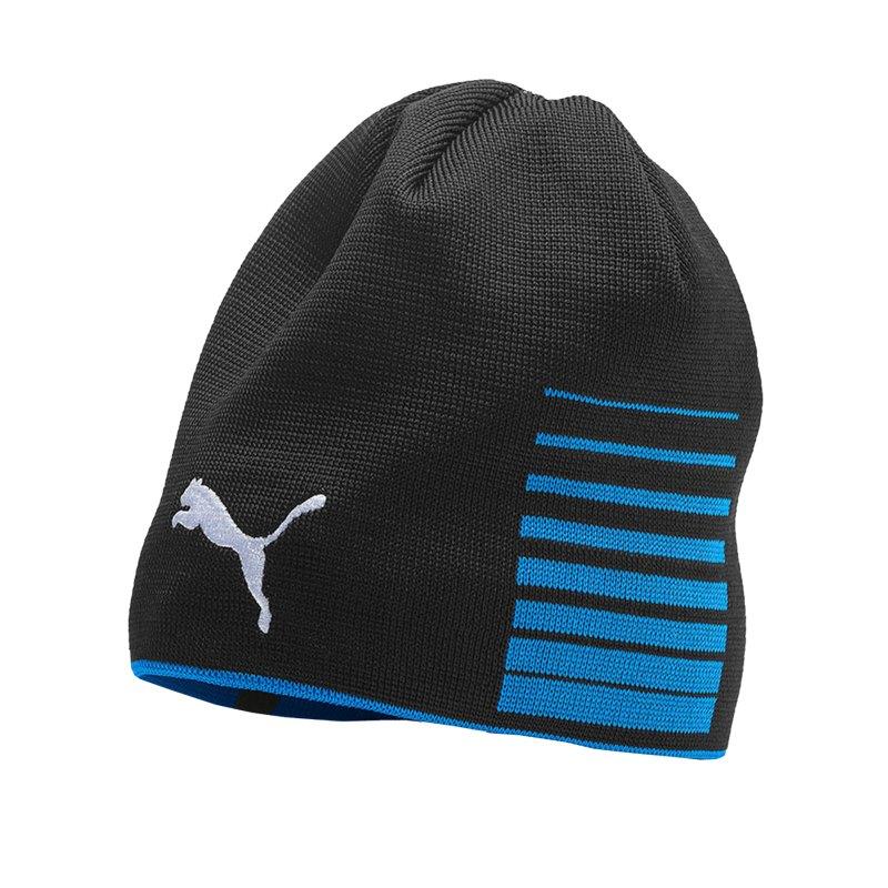 PUMA LIGA Reversible Beanie Mütze Blau Schwarz F02 - Blau