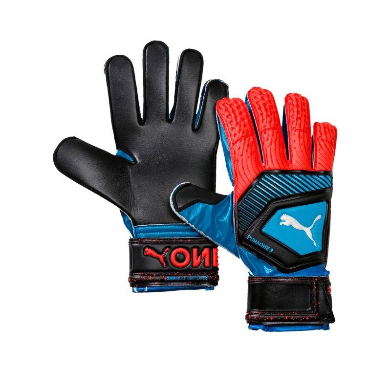 PUMA ONE Protect 3 Torwarthandschuh Blau Rot F21 - blau