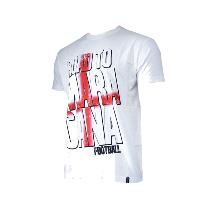 Maracana T-Shirt Road To Maracana England Weiss - weiss