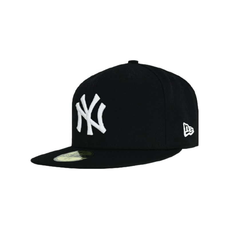 New Era Fitted Cap NY Yankees MLB Basic Schwarz - schwarz