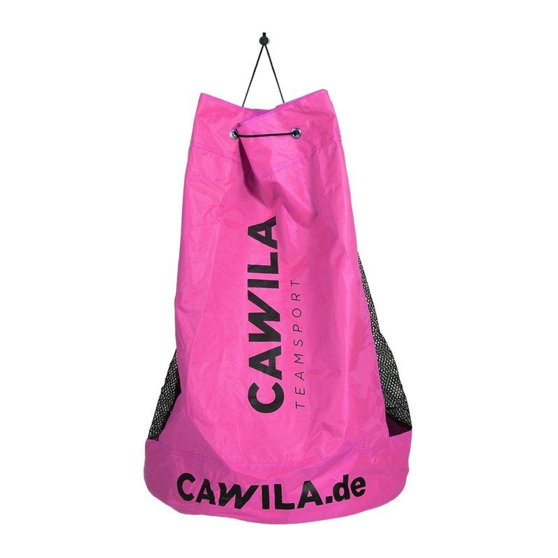 Cawila Ballsack 12 Fussbälle Pink - pink